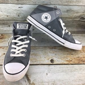 CONVERSE All Star Mid-Top Gray Leather Sneaker Men